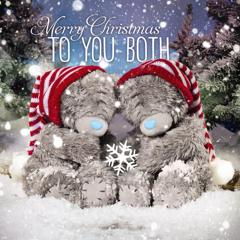 Me To You Tatty Teddy 3D Holographic Card - To You Both Christmas Card Carte Blanche Greetings Ltd