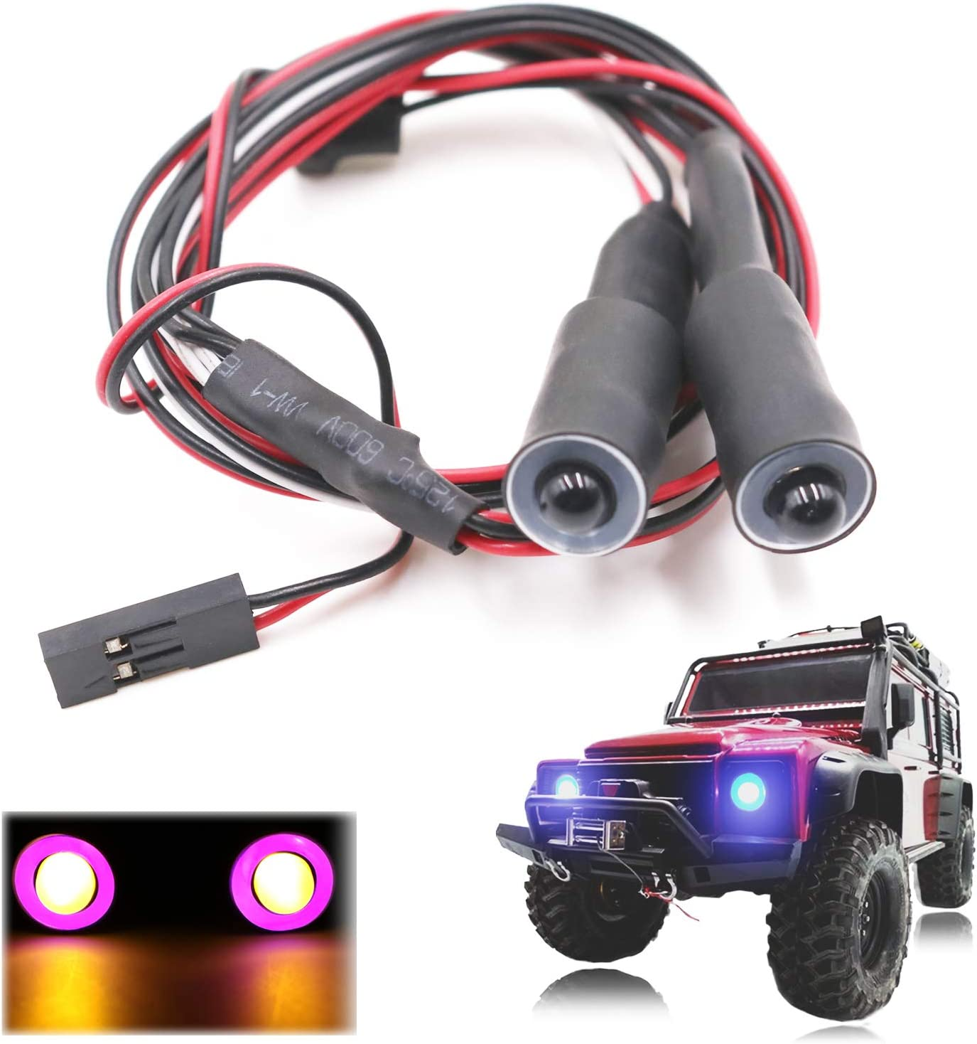 RC Car Light Led 4 White for  Redcat Rc4wd CC01 1:10 Scale Crawler DIY Kits
