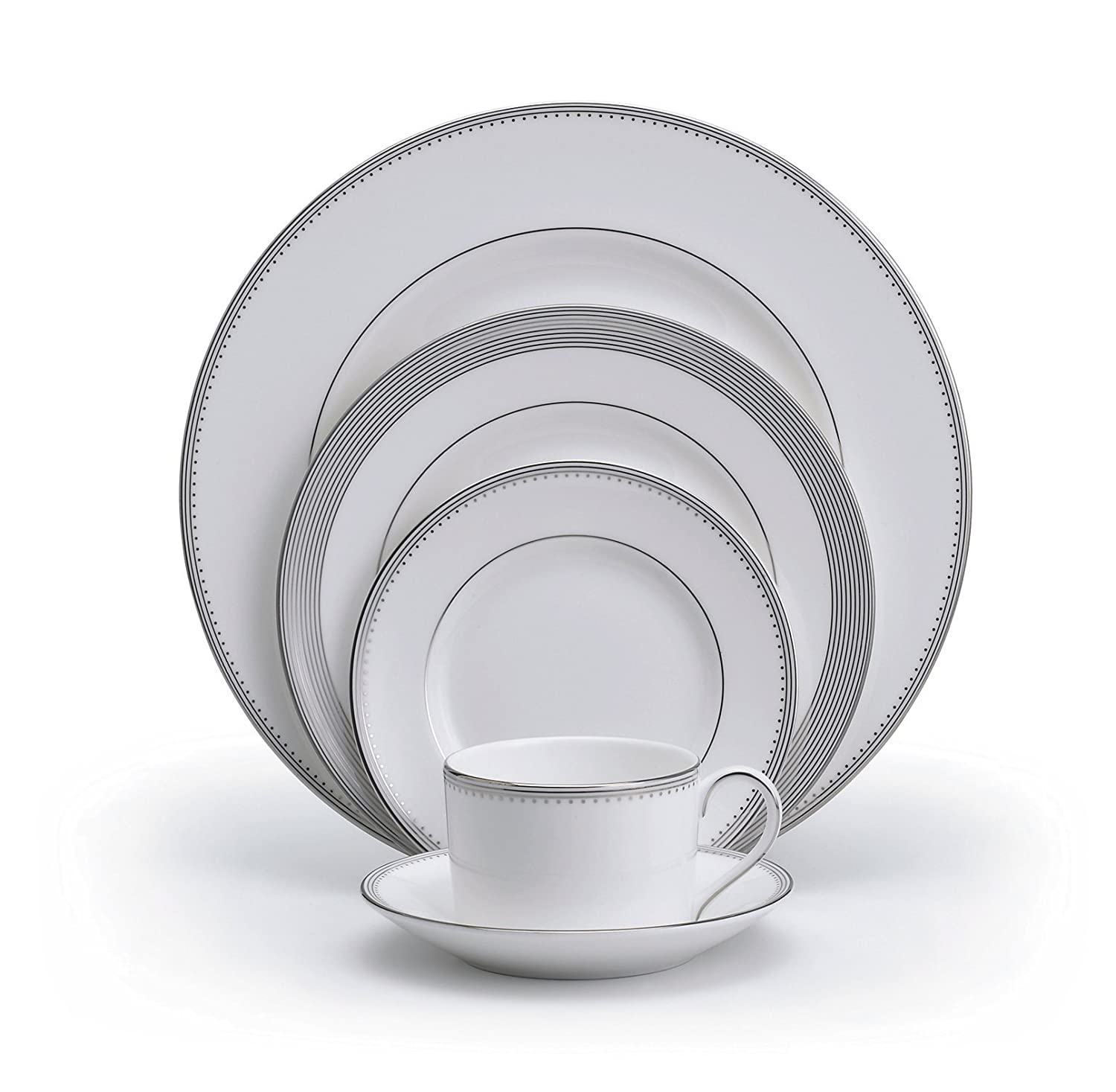 amazoncom vera wang wedgwood grosgrain 5piece place setting service for 1 dinnerware sets dinnerware sets