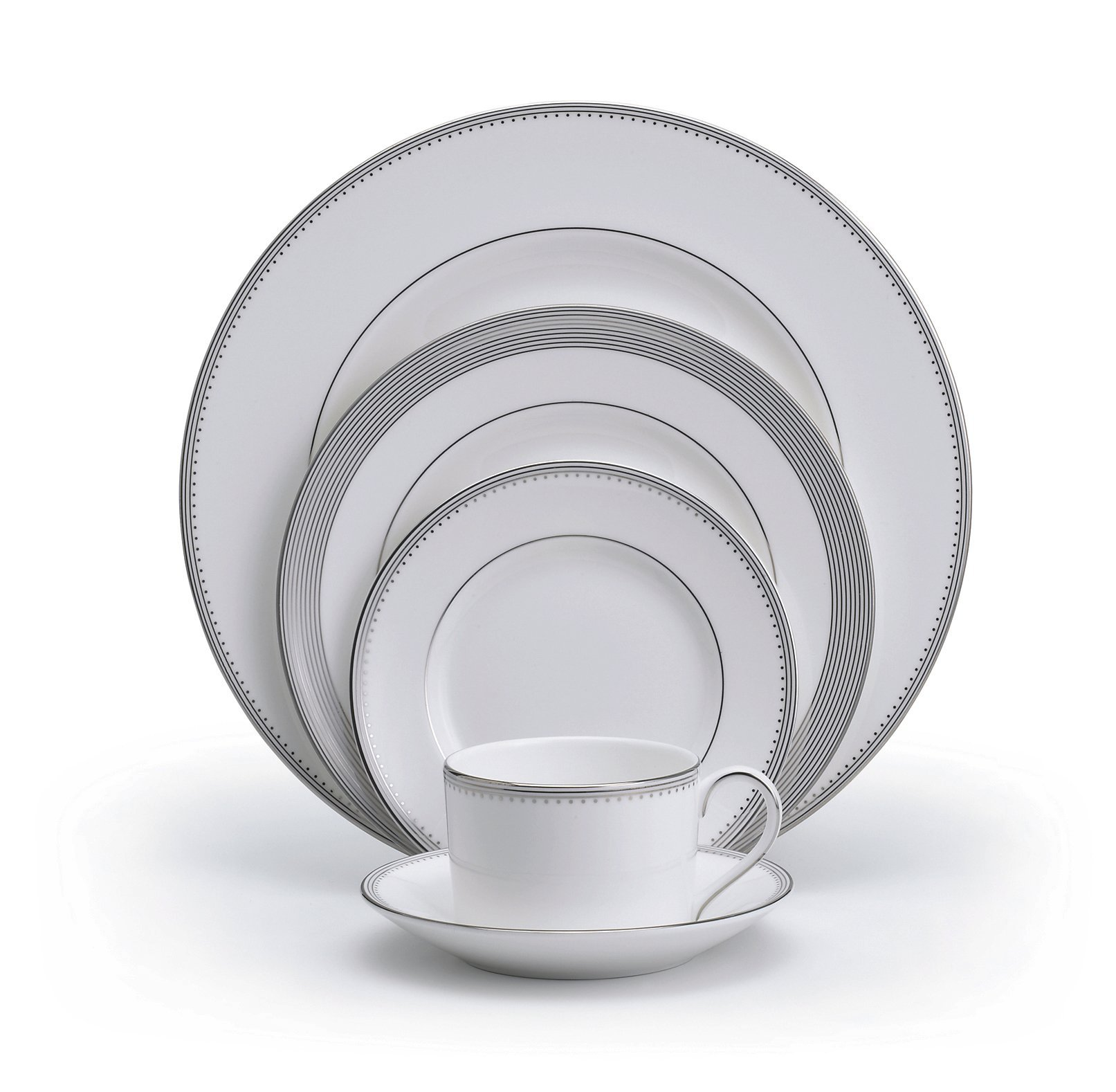 Vera Wang Wedgwood Grosgrain 5-Piece Place Setting, Service for 1