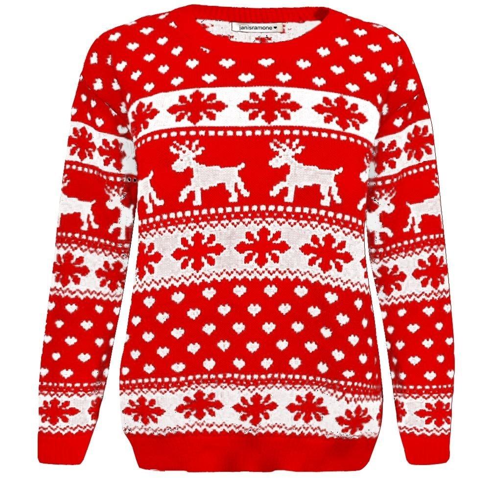 Janisramone niñas niños niños Renos de Navidad Copo de Nieve Novedad Niños  de Punto Fairisle de Navidad Saltador de suéter Top  Amazon.es  Ropa y  accesorios e77c58f8553b