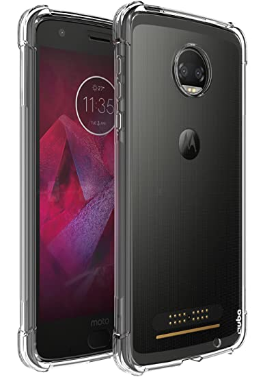 competitive price 0f2f8 97dca Moto Z2 Force Case, OUBA Anti-Scratches Slim Flexible TPU Gel Premium Soft  Bumper Rubber Protective Case Cover Compatible for Motorola Moto Z2 Force  ...