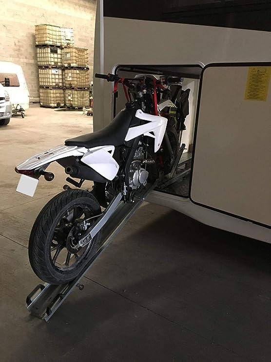 Portamotos Universal Ajustable con rampa autocaravanas y Campers: Amazon.es: Coche y moto