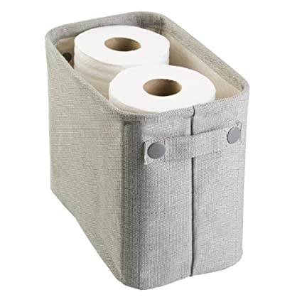 MetroDecor Caja de algodón para el baño mDesign, para revistas, Papel higiénico, Toallas