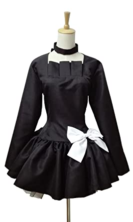 bafe1acad04 Amazon.com  Xiao Wu Anime Manga Dead Master Black Dress Outfit Clothes  Cosplay Costume  Clothing