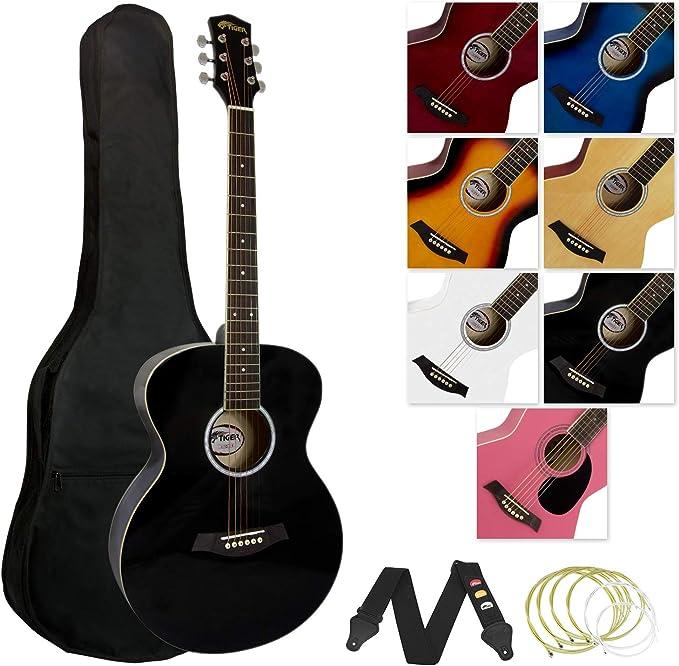 Tiger Claw ACG2-RD - Guitarra acústica (incluye accesorios), color ...