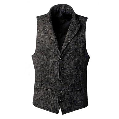 new styles abf62 85eab Successg Tweed Jacke Herren Wolle Westen Herbst Winter ...