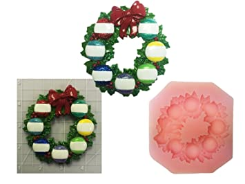 Muérdago Holly corona nuevo apto para alimentos molde de silicona para tartas Decor/jabón/vela/kit Box DIY manualidades: Amazon.es: Hogar