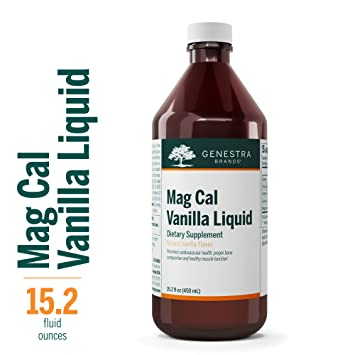 Genestra Brands - Mag Cal Vanilla Liquid - Calcium-Magnesium Supplement -  Natural Vanilla