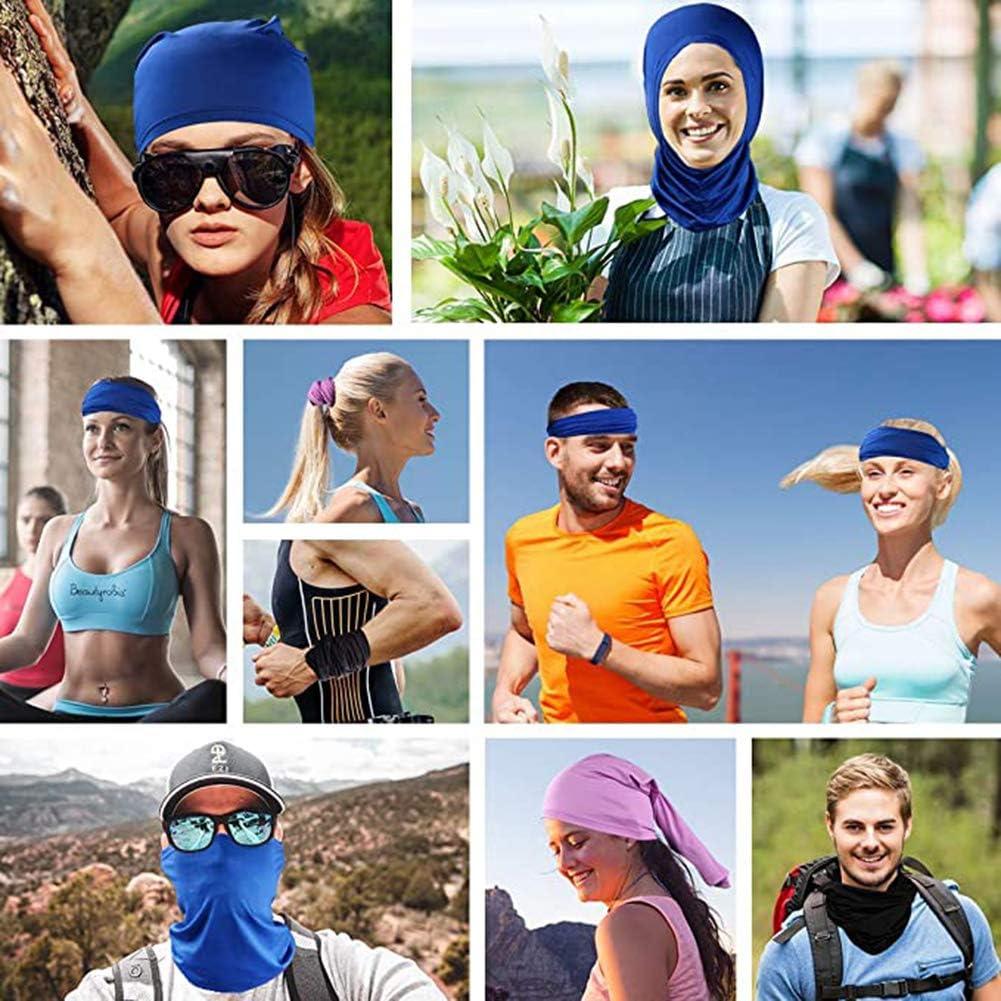 6 Pieces Sun UV Protection Face Neck Gaiter Windproof Scarf Sunscreen Breathable Bandana Balaclava for Sport/&Outdoor