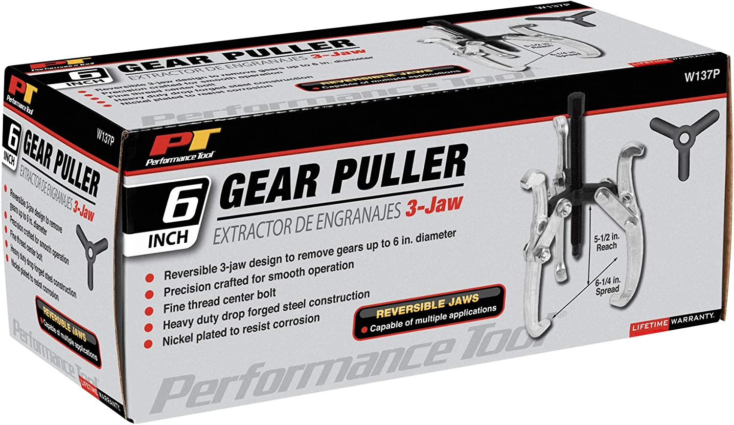 Performance Tool Jaw Grip Puller New W137P