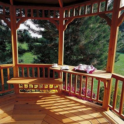 Surprising Amazon Com Handy Home Products Gazebo Bench Table Kit Ibusinesslaw Wood Chair Design Ideas Ibusinesslaworg