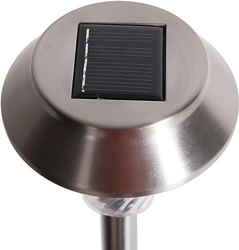 Sunjoy 4.5LX 16.1Hx4.5Winch 10PC Pack LED Stainless Steel /& Plastic Solar Panel Light