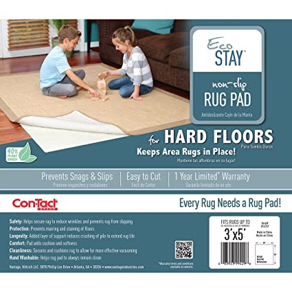 Eco - Stay Non - Slip Rug Underlay 3'X5' ( Pack Of 2 )