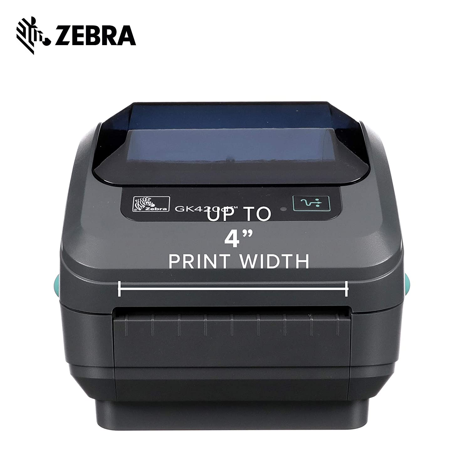 Zebra - GK420d Direct Thermal Desktop Printer for Labels, Receipts, Barcodes, Tags, and Wrist Bands - Print Width of 4 in - USB and Ethernet Port ...