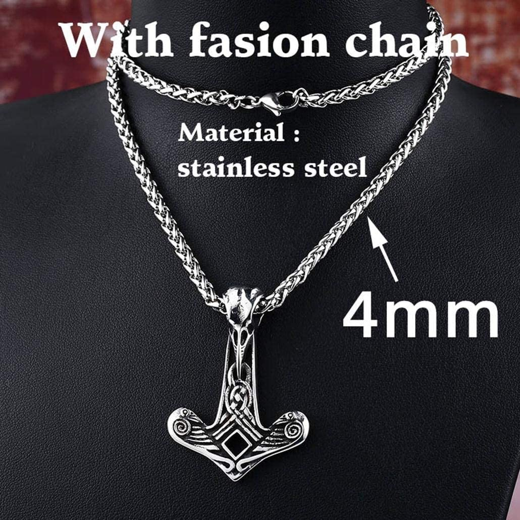 LALA JEW Viking Men Necklace Mask Pendant Animal Jewelry Charm Nordic Necklaces Stainless Steel