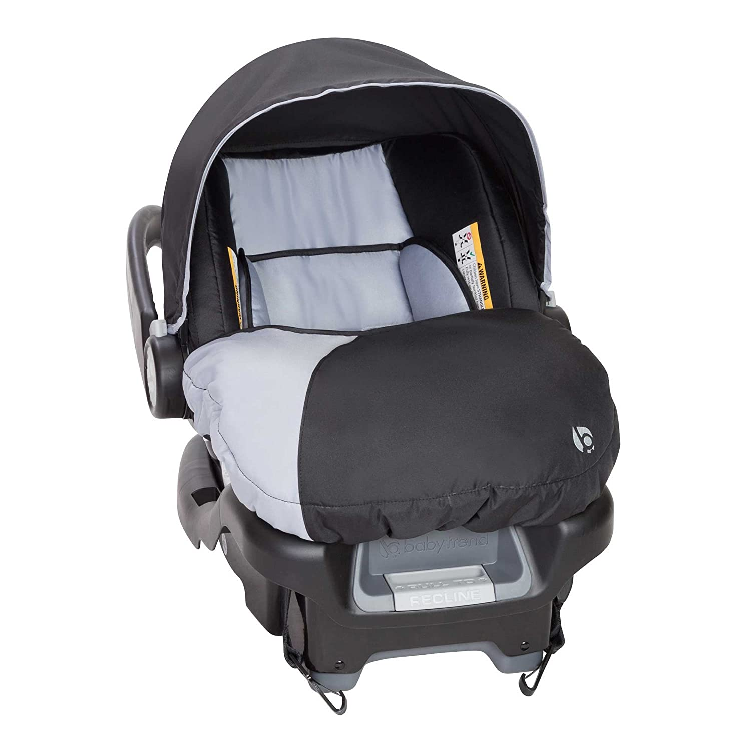 Baby Trend Ally Adjustable 35 Pound Infant Baby Car Seat and Base Gray Magnolia