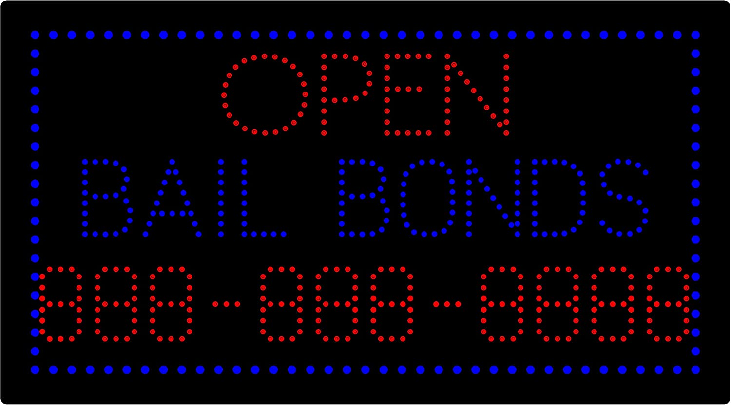 LED Bail Bonds Open Light Sign