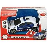 Dickie–Auto mossos Luce E Suono 15cm 1152003, Colore: Bianco E Blu