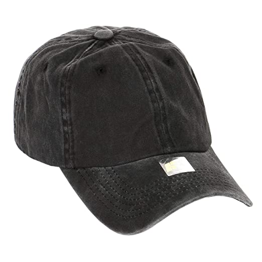 bdd280d36d2d7 Shinabro Daddy Polo Baseball Cap hat Plain Blank curbed Bill Everyday Dad  Faded Black