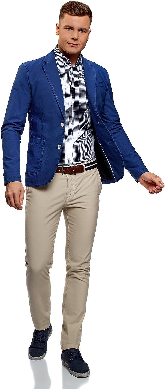 oodji Ultra Uomo Camicia in Cotone a Quadri