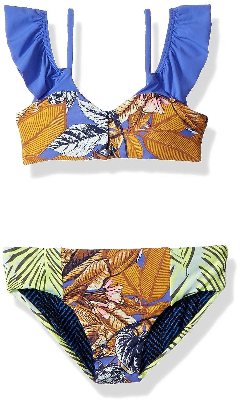 Maaji Girls' Mixed Print Bikini Swimsuit Set with Ruffle Detail Maaji Children's Apparel 3080KKB0312