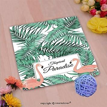 vroselv Custom algodón microfibra Ultra suave mano towel-tropical Paradise Póster Plantilla de tarjeta rosa