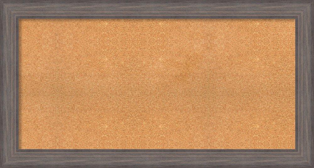 Amanti Art Country Barnwood,Choose Your Custom Size Framed Cork Board 52 x 28