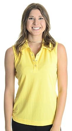 Polo sin mangas para mujer, amarillo, peque?o: Amazon.es: Ropa y ...
