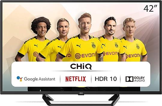 3 x HDMI WiFi Bluetooth Google Assistant Android HDR10//HLG Netflix FHD L42G6F Prime Video 2 x USB CHiQ Televisor Smart TV LED 42 Pulgadas