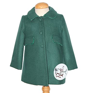 R RICITTOS Abrigo de paño de niña (2 años, Verde): Amazon.es: Ropa y accesorios