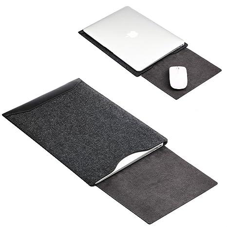 GENORTH®Funda de fieltro y Microfibra PU Resistente al Agua para Apple ordenador portátil Macbook