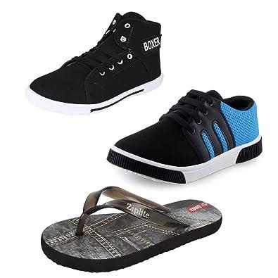 f9760c4595cbe Earton Men Combo Pack of 3 Casual Shoes   Flip-Flops  Buy Online at ...