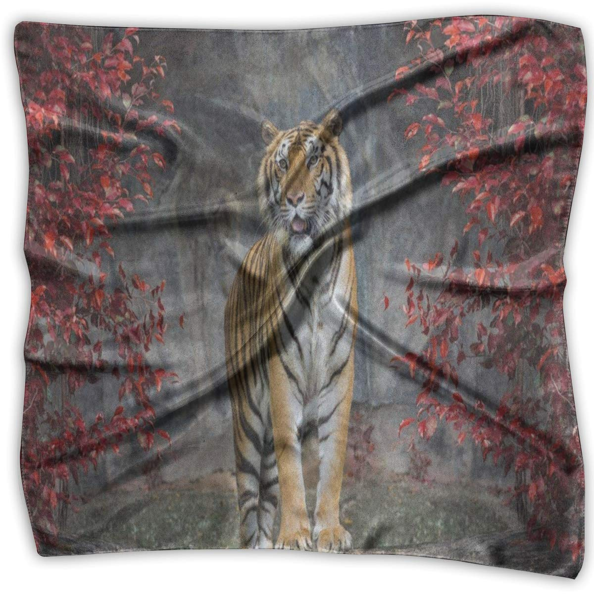 Square Scarf Painting Portrait Of The Tiger Scarves Unisex Neck Head Tie For Men
