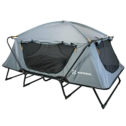 amazon com winterial double outdoor camping tent cot elevated