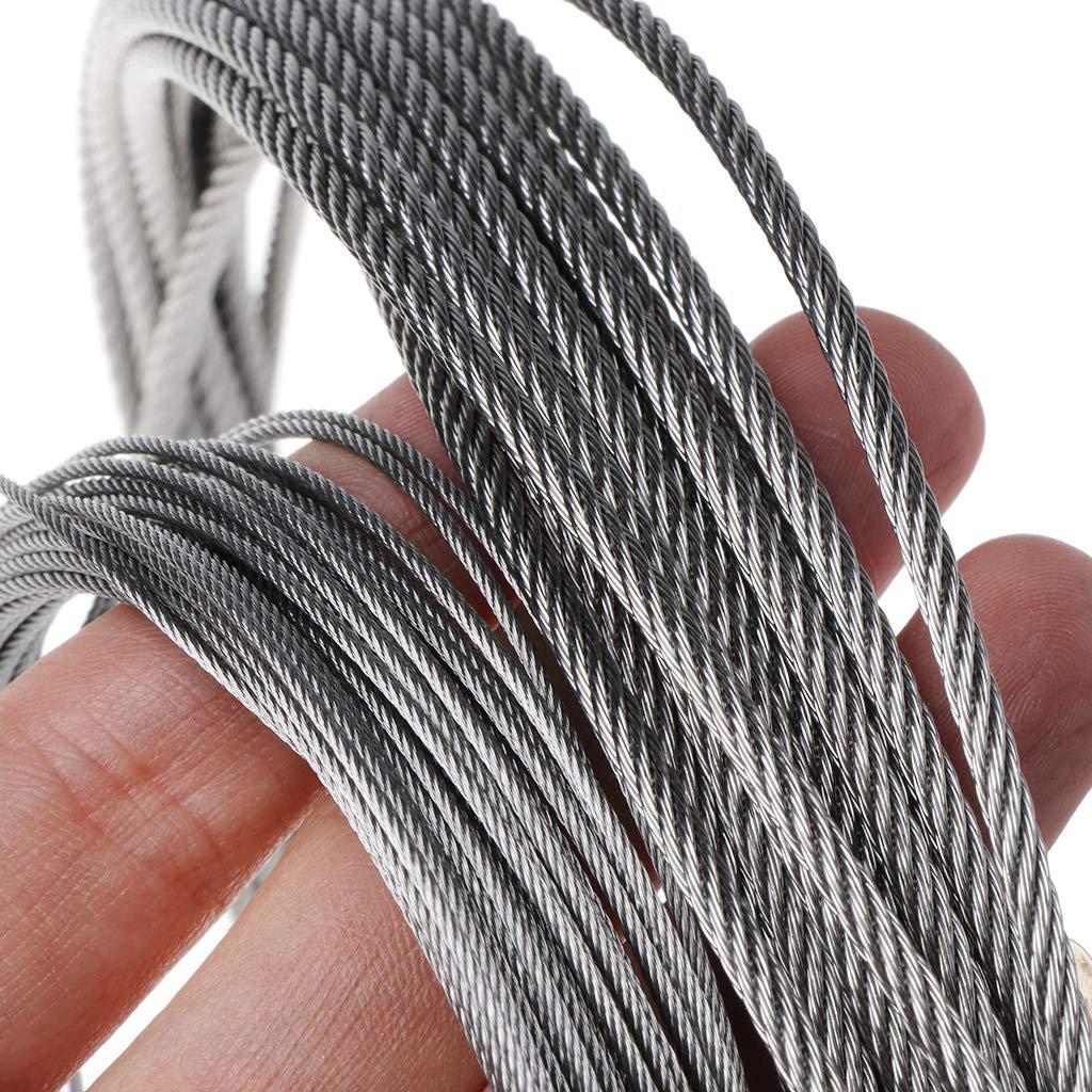 10 m Flexibles Hebekabel f/ür Angeln 7 /× 7 W/äscheleine 20 Kafen Metallkabel aus Edelstahl 304