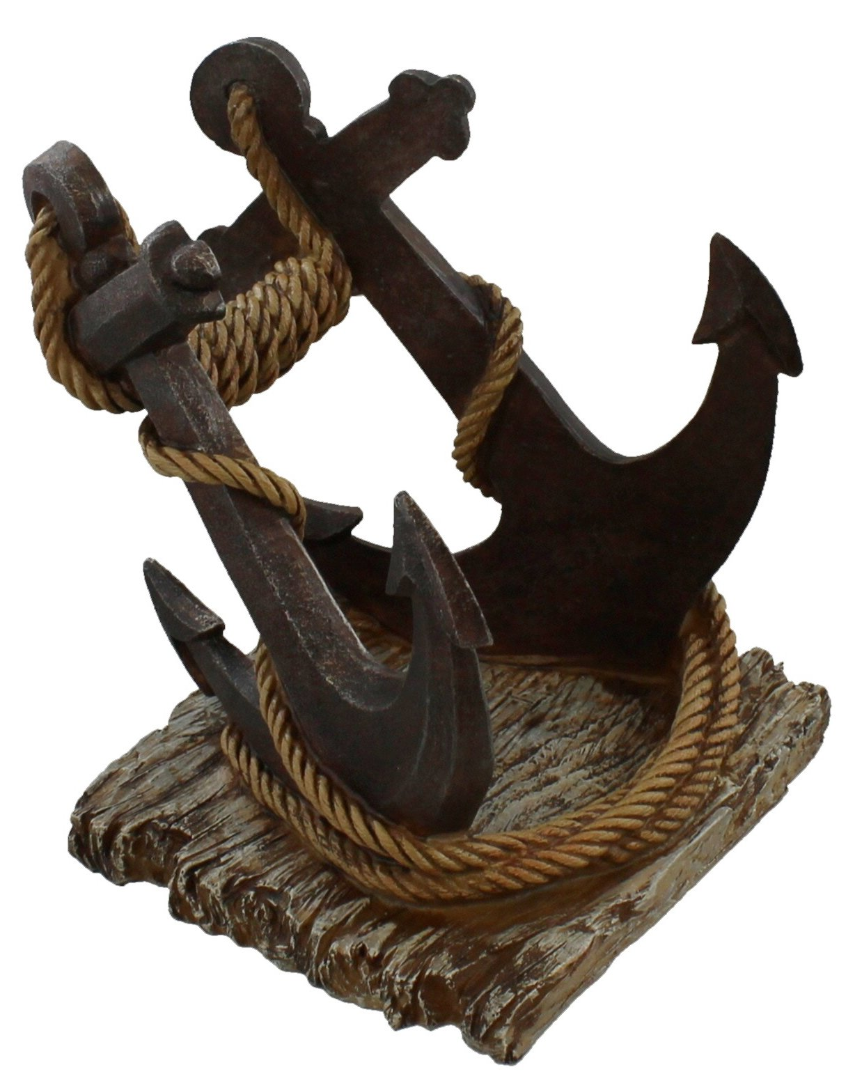 Rustic Rope Wrapped Boat Anchor Wine Bottle Display Holder / Rack - Nautical Decor
