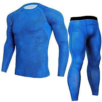 Herren Trainingsanzug Overall Jumpsuit Jogger Jogging Anzug-Atmungsaktiv Kompressions Shirt Pants Set