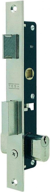 Tesa Assa Abloy, 222012NM, Cerradura Monopunto para perfiles metálicos 2220, Negro Mate
