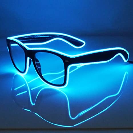 Perfect Amazon.com: Light Up El Wire Glasses (Blue): Toys & Games YS17
