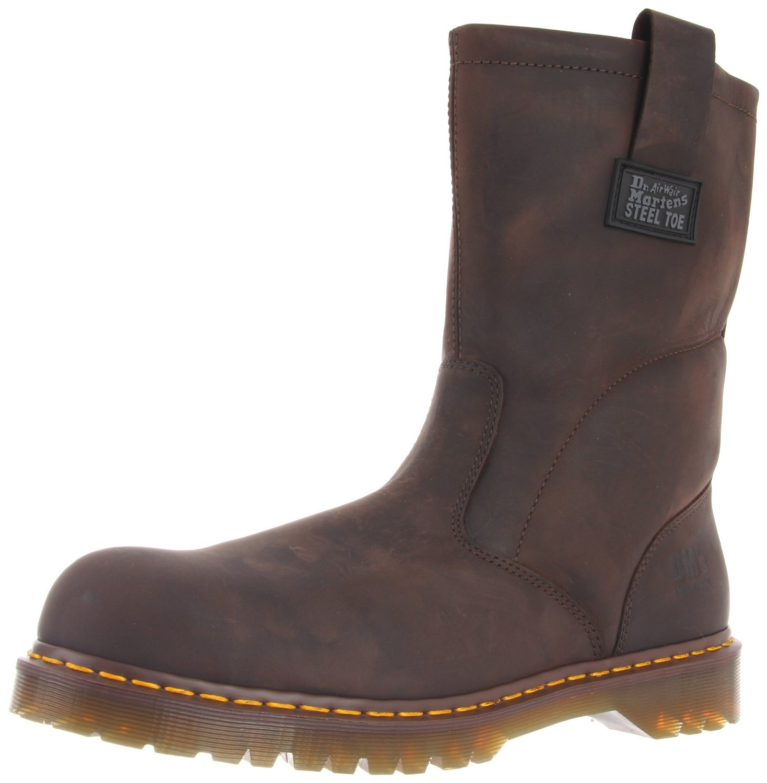 Dr. Martens Men's Icon Industrial Strength Steel Toe Boot,Gaucho,7 UK/8 M US