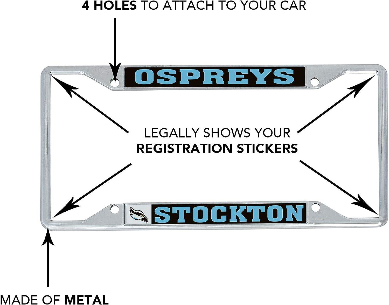 Mascot Desert Cactus Stockton University Ospreys NCAA Metal License Plate Frame for Front Back of Car Officially Licensed