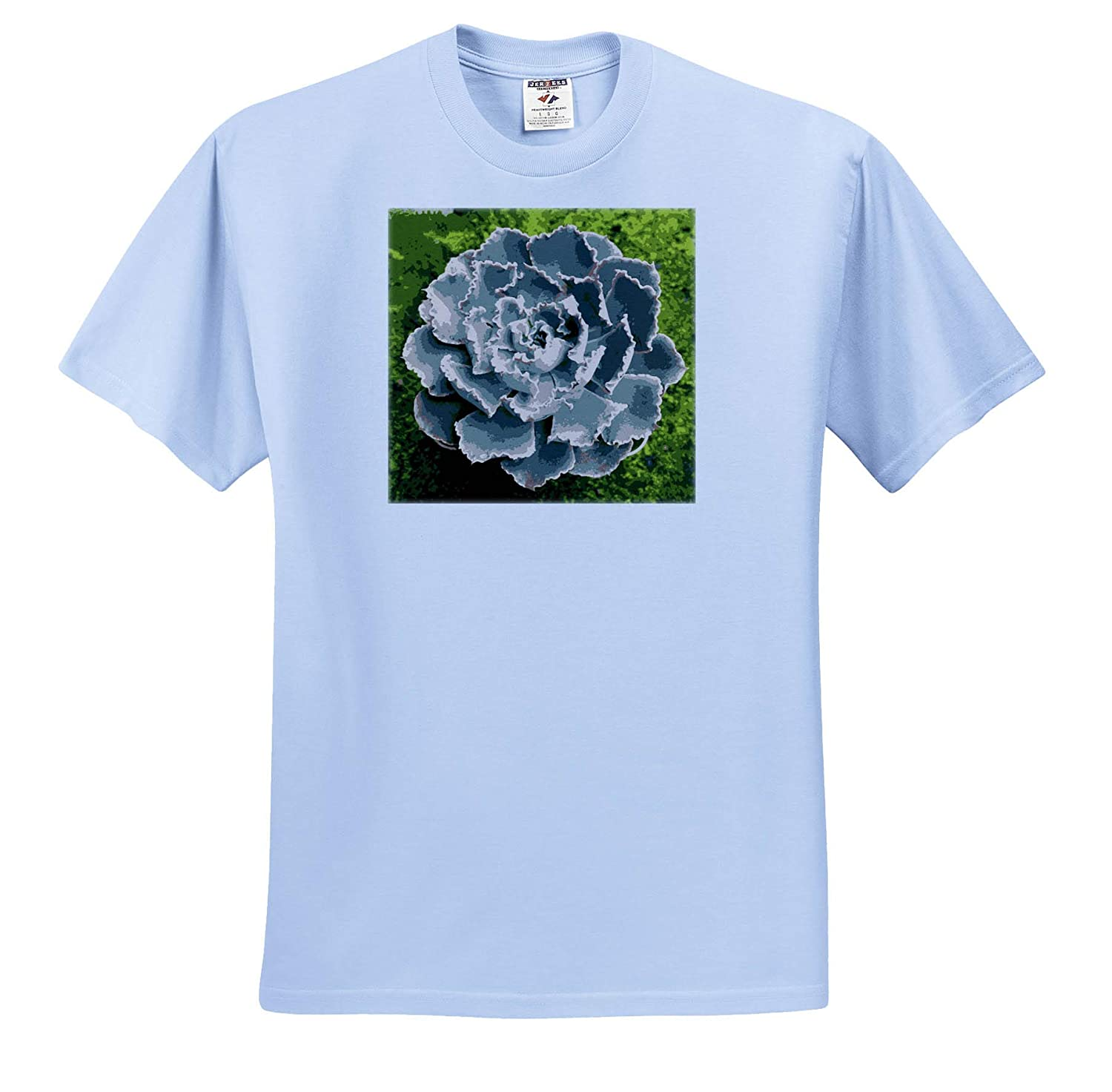Succulent Cacti on Green Background Succulent Vector T-Shirts 3dRose Taiche