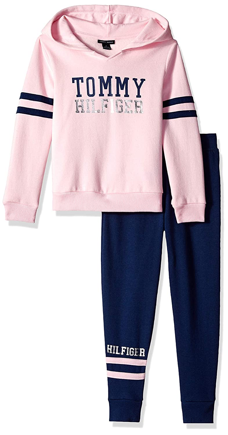 6e3fb71906b Tommy Hilfiger Girls' 2 Pieces Jog Set: Amazon.in: Clothing & Accessories