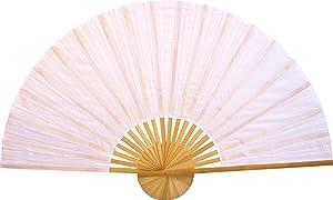 """Large 60"""" Folding Wall Fan - Solid White Unpainted - Original Wall Fan"""