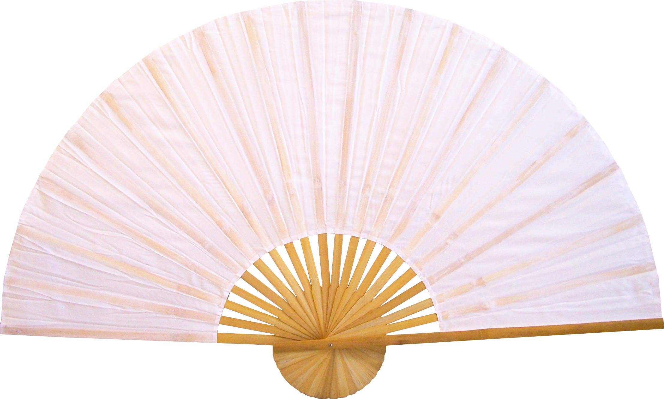 Large 60'' Folding Wall Fan - Solid White Unpainted - Original Wall Fan by Oriental-Decor