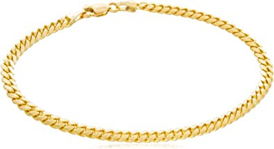 4mm 14K Gold IP Small Cuban Link Bracelet