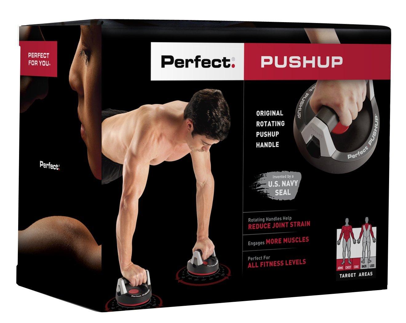 amazon com perfect fitness perfect pushup rotating push up handles