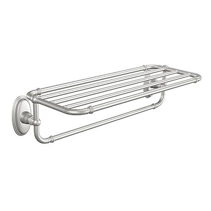 Moen YB5494BN Kingsley Towel Shelf, Brushed Nickel   Mounted Bathroom  Shelves   Amazon.com