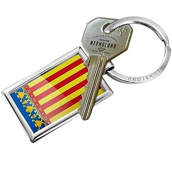 Amazon.com: Llavero bandera de Valencia Región: España ...